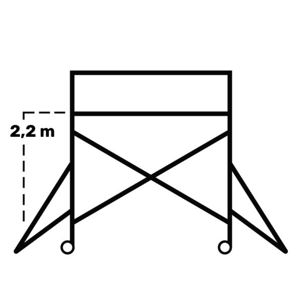 Hyr rullställning / Byggställning Span 130 2,2m