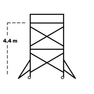 Hyr rullställning / byggställning span 130 4,4m