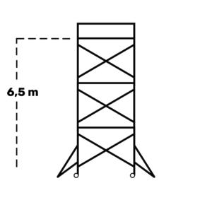 Hyr rullställning / byggställning span 130 6,5m
