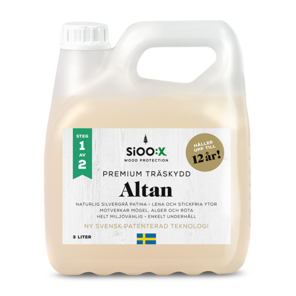 SiOO:X premium träskydd altan 3 liter
