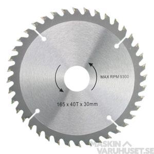 Sågklinga 165 mm 40T Tamo
