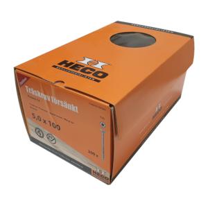 Träskruv 5x100 200st Heco Protect 4 TFT
