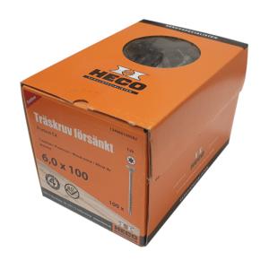 Träskruv 6x100 100st Heco Protect 4 TFT